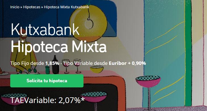 kutxabank hipotecas mixtas