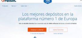 Opiniones de Raisin España: intereses de depósitos y características